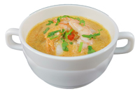 Thai Suppe mit Garnelen